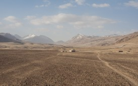 A Lonely House. Churunkul Lake, Tajikistan