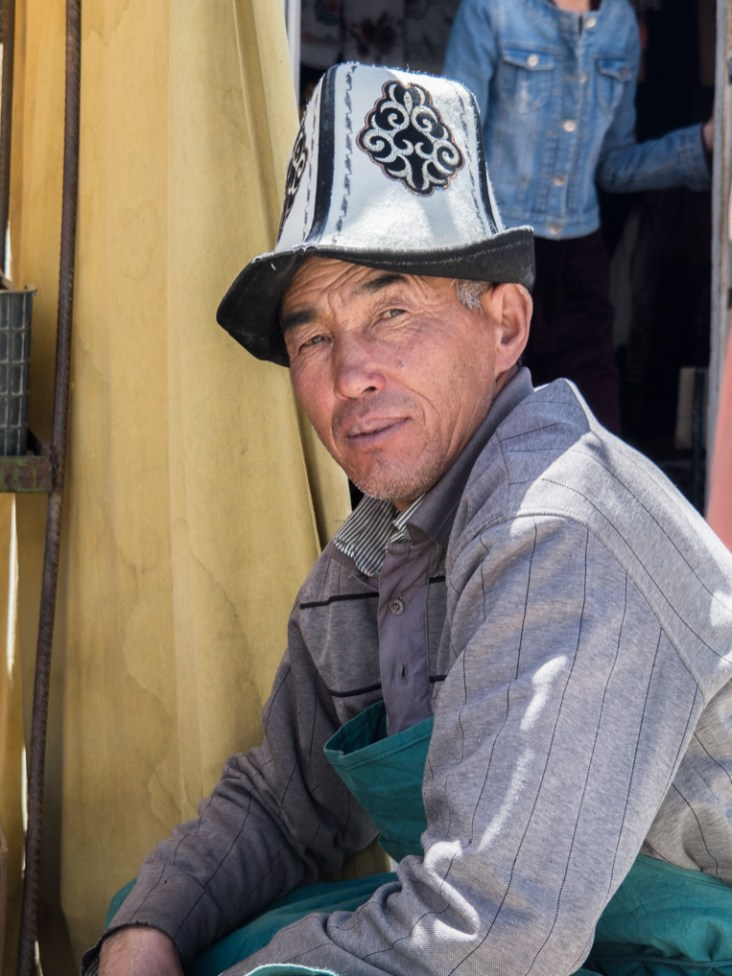 Kyrgyz shop keeper. Murghab, Tajikistan