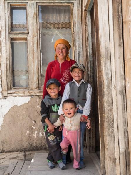 A Kyrgyz Family. Ak-Baital Pass, Tajikistan