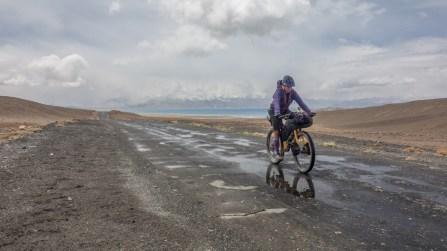 After first rain. Karakul Lake, Tajikistan