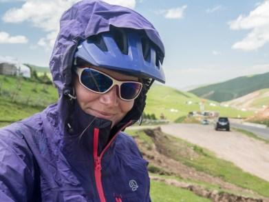 Dasha in Chirchik Pass. Chirchik Pass, Kyrgyzstan