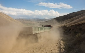 Truck and Dust. Kok-Djar, Kyrgyzstan