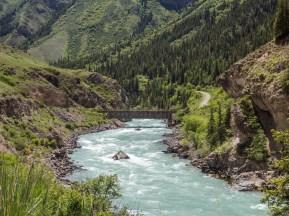 Ike-Naryn River. Ike-Naryn, Kyrgyzstan