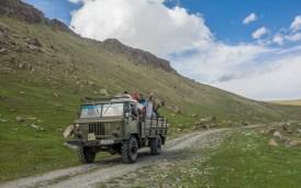 Rodinný výlet. Oblast Tosor Pass, Kyrgyzstán