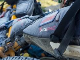 Frozen bags. Tosor Pass Area, Kyrgyzstan