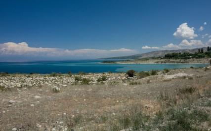 Středozemní moře nebo jezero? Issyk-kul, Kyrgyzstán