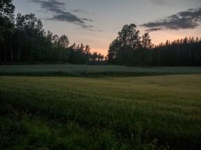 Chladný večer. Billnas, Finsko