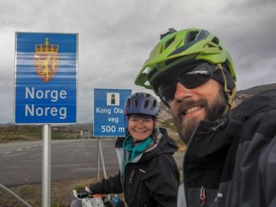 Norský hraniční přechod. Norsko