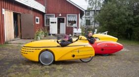 Velomobile testride. Vittangi, Sweden