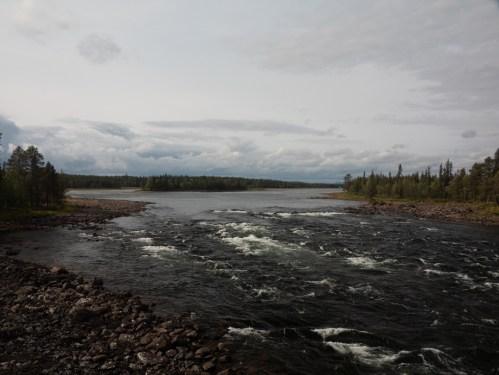 Řeka Vittangi. Vittangi, Švédsko