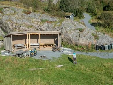 Místo na piknik. Hadsel, Norsko
