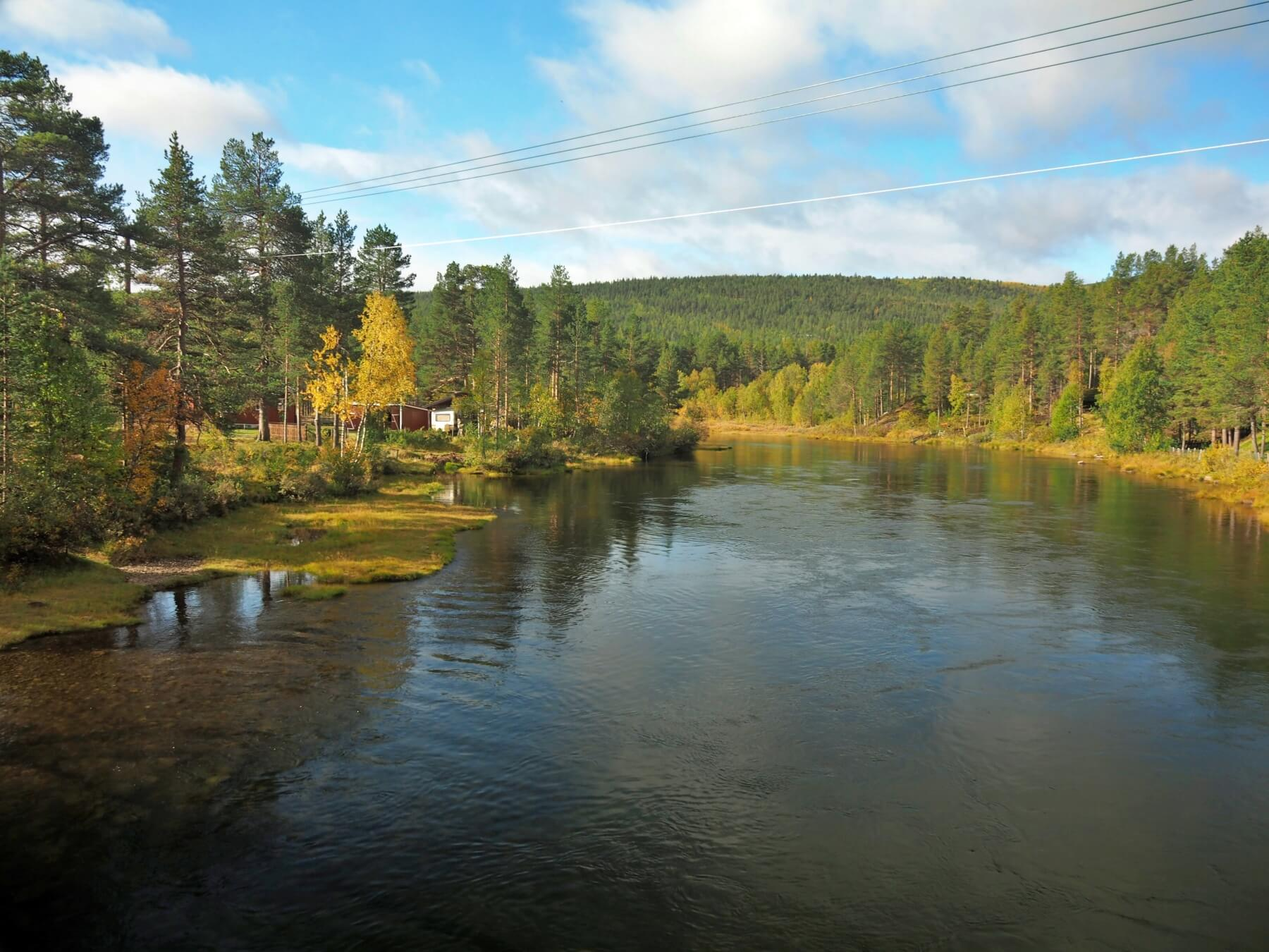 Jezero Olstappen. Norsko