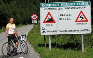 Start of the Nockalmstrasse