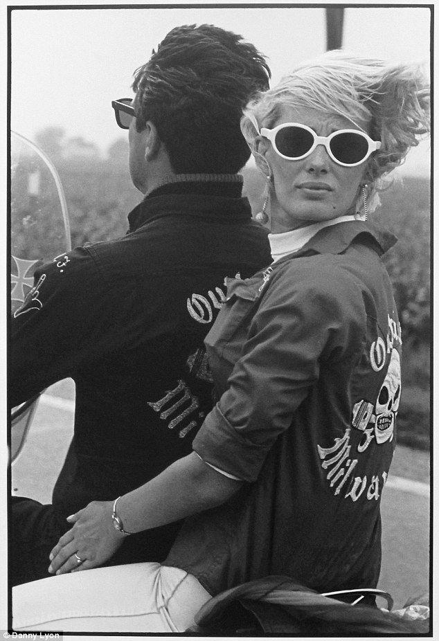 Biker chick: Memorial day run in Milwaukee, Wisconsin, 1965