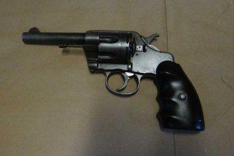 A hand gun