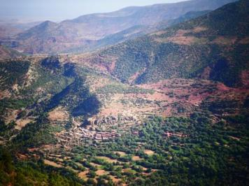 View over the high Atlas Mountains