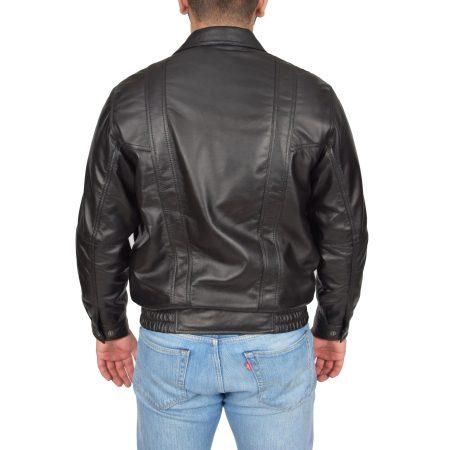 Men's Black Bomber Blouson Jacket