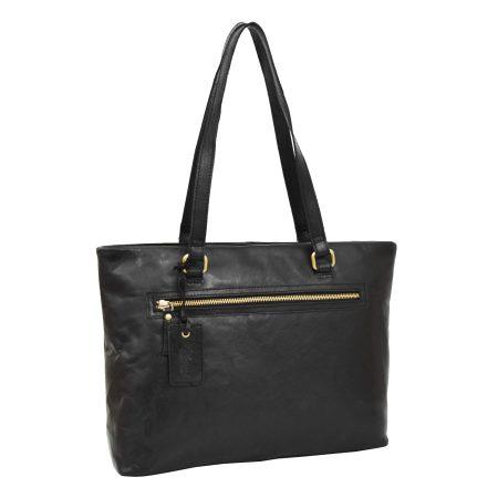Womens Leather Classic Shopper Bag Lima Black