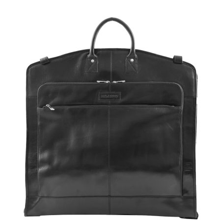 Real Leather Slimline Garment Carrier Taipei Black