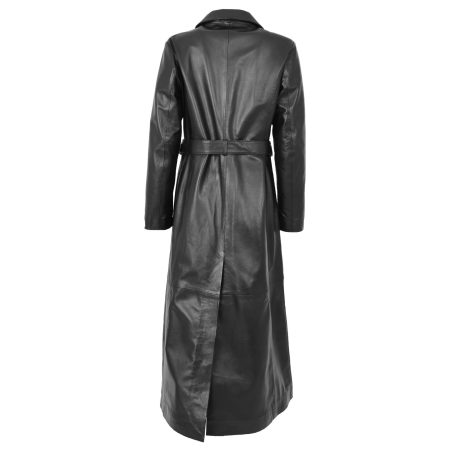 Women's Full Length Leather Classic Coat