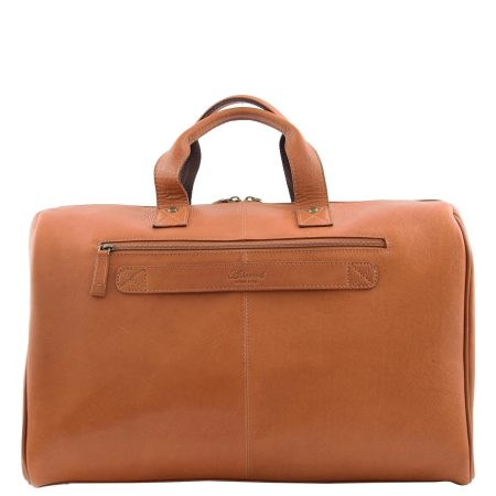 Travel Leather Holdall Overnight Bag Tan