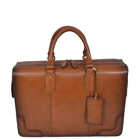 Leather Doctors Medical Briefcase Tan