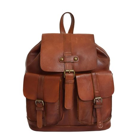 Real Leather Classic Vintage Rucksack Tan
