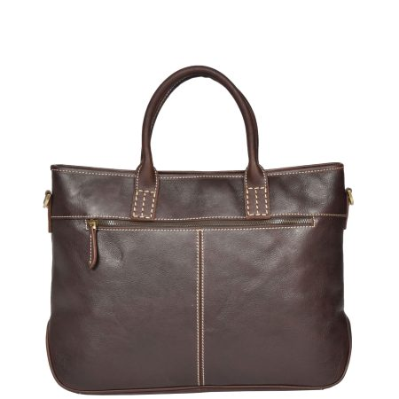 Womens Leather Cross Body Handbag H8099 Brown