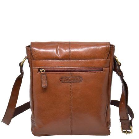 Mens Leather Cross Body Bag Tan
