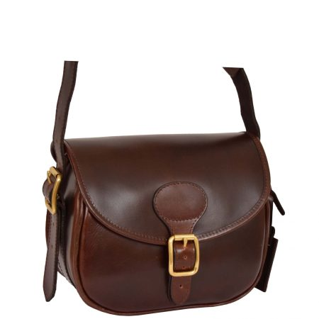 Leather Cartridge Bag 90 Rounds Neo Brown