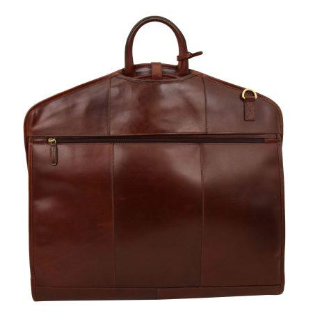 Luxury Leather Slimline Garment Carrier Keswich Brandy