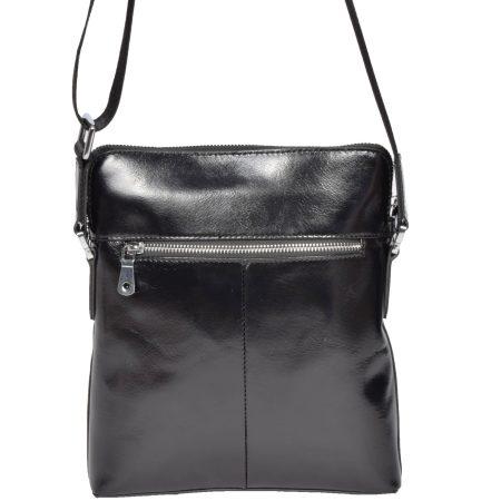 Italian Leather Flight Bag H9819 Black