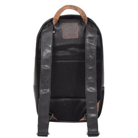 Large Multipurpose Leather Backpack Black