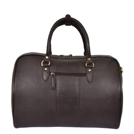 Zip Around Leather Travel Holdall Monaco Brown