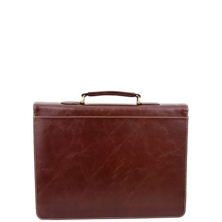 Men's Leather Flap Over Briefcase