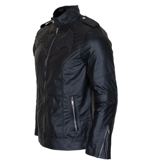 Batman Beyond Cosplay Black Biker Faux Leather Jacket