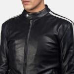 Hank Black Leather Biker Jacket