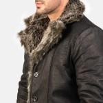Furlong Black Leather Coat