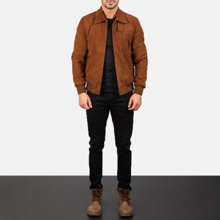 Tomchi Tan Suede Leather Jacket