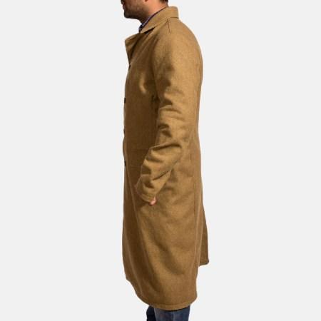Froth Khaki Wool Peacoat