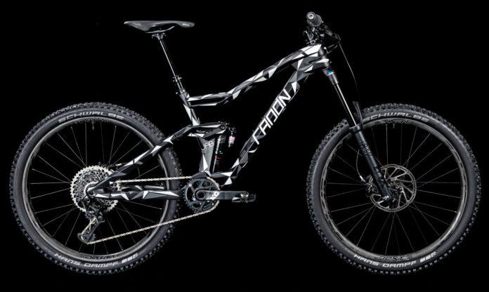 Radon Jab lightweight carbon enduro mountain bike camo teaser complete bike