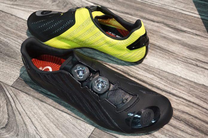 2018 Pearl Izumi Pro Leader v4 road bike shoe with prism chrome outsole 6c6315163