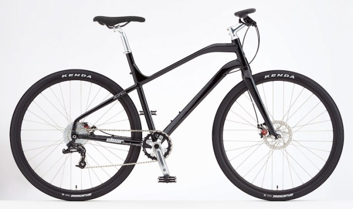 Clear Bicycle Company, the One commuter bike, Black/silver, side