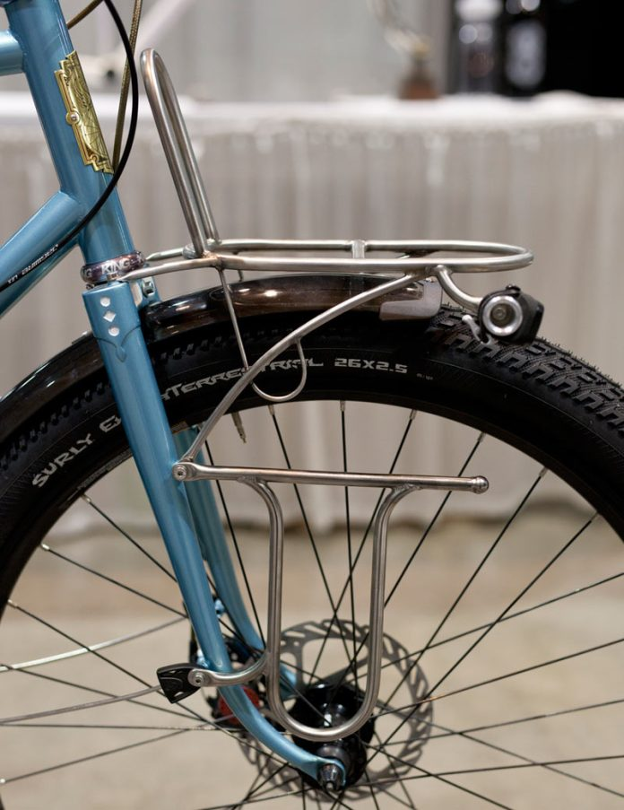 Porter Cycles blue steel rando touring 650B bike at NAHBS 2018