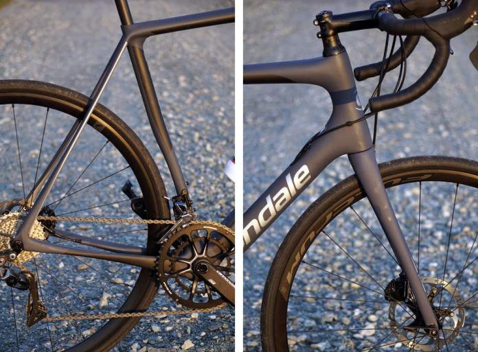 2018 Cannondale Synapse Carbon Disc brake endurance road bike has micro suspension built into the frame flex points