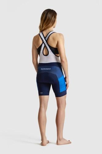 Peppermint clothing 2018, signature bibshorts, rear