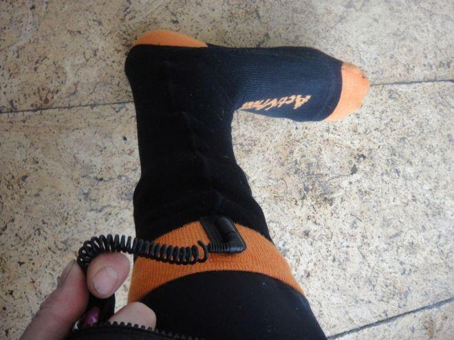 electrically heated socks