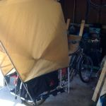 I made this prototype from pup tent parts.