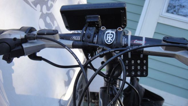Black Beauty sports a Cycle Analyst and an LED headlight, both from Grin Tech.