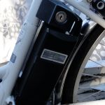 Sanyo is a battery manufacturer and built the bike around their NiMH battery. The bike is surprisingly powerful and has a range of five to 10 miles. It's not fast but it is so stately that you don't feel like going fast when you are riding it.